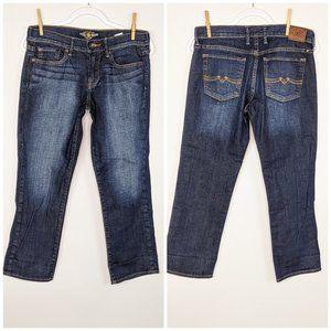 Lucky Brand Sweet'n Crop Jeans 6/28 Blue Zipper